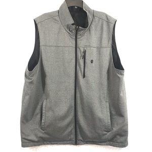 Mens Izod Grey Reversible Black Jacket Vest Sz 3X